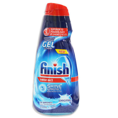 Finish 650ml 26 Washes Concentrated Gel Dishwasher Liquid