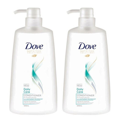 2PK Dove 640ml Conditioner Daily Care f/ Normal To Fine Hair