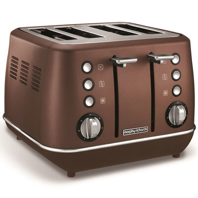 Morphy Richards Evoke 4 Slice Toaster - Bronze