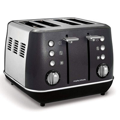 Morphy Richards Evoke 4 Slice Toaster - Black/Charcoal