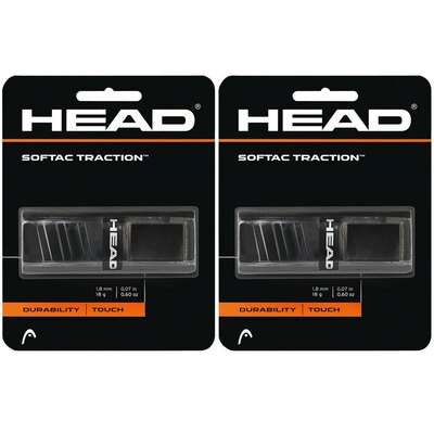 2PK Head SofTac Traction Replacement Grip - Black