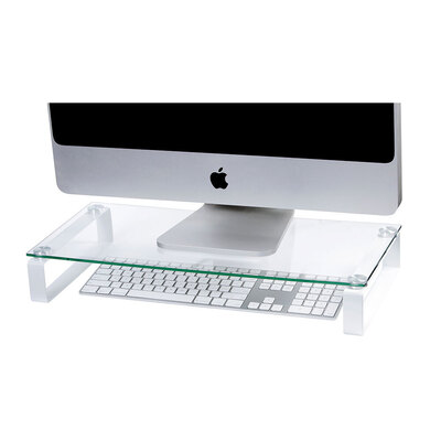 Esselte Monitor Stand 60cm Glass w/ Legs