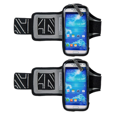 "2x Allsop ClickGo Smart Phone Armband for Running/Exercise / Sports fits Phones up to 5.7"" Inc"