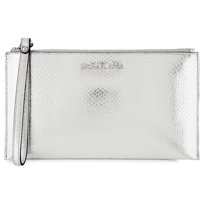Michael Kors Jet Set Clutch Bag - Silver