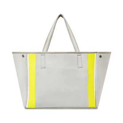 Urban Originals Byron Tote Bag - Grey/Yellow