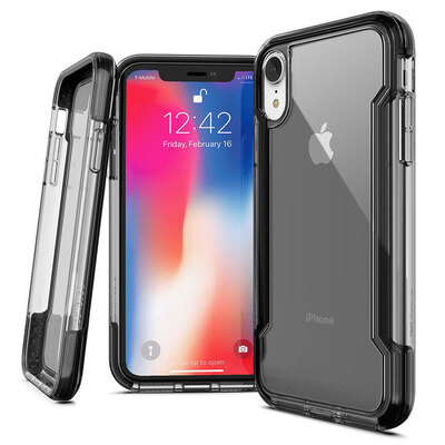 X-Doria Defense Clear iPhone XR Black