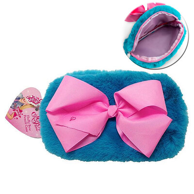 Jojo Fluffy Bow Pencil Case