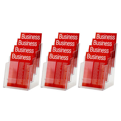 3PK Esselte 4 Tier A5 Brochure Holder