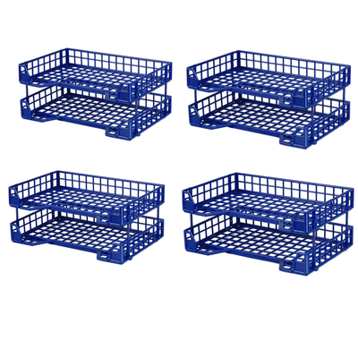 Esselte 8 Piece Industry Letter Tray - Blue