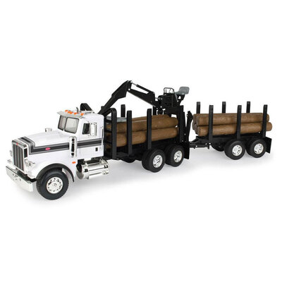 Peterbilt Big Farm 367 Logging Truck w/ Pup Trailer & Logs