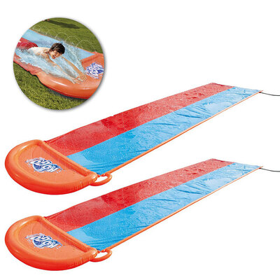2PK Kids Backyard 5.5m Double Slide Pool