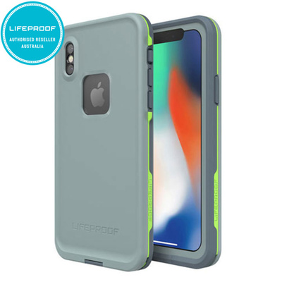 Lifeproof Fre Grey/Green Waterproof Case for iPhone X