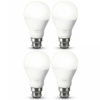 4PK Philips HUE B22 9.5W 60W LED Lightbulb