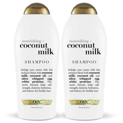 2x OGX 750ml Nourishing + Coconut Milk Shampoo