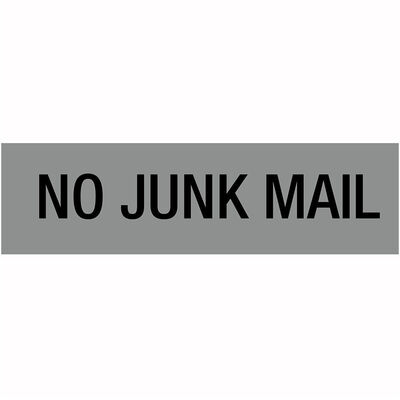 No Junk Mail Sticker Silver Letterbox/Mailbox Sign