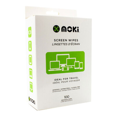 Moki Screen Wipes - 100 Box