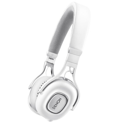 Denon AH-MM200 White On-Ear Headphones