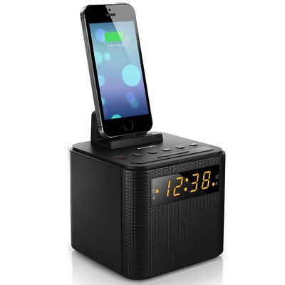 Philips AJ3200 FM Radio Clock USB Charging Dock Station