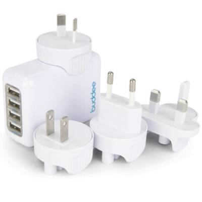 Buddee 4 Port USB Travel Wall Charger 5.4A