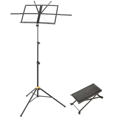 Hercules Lightweight Music Sheet Stand w/ Bag/Guitar Foot Stool