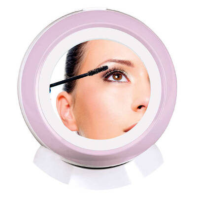 Beauty Magnifying Mirror w/ LED Light and Storage