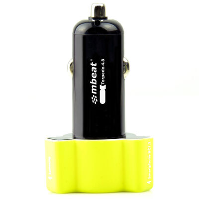 mbeat Triple Port Rapid Car Charger Yellow