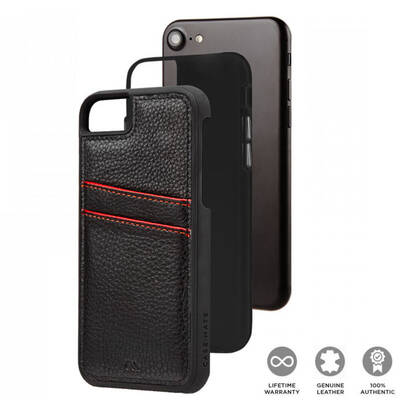 Case Mate Black Tough ID Wallet Cover for iPhone 8/7/6S/6