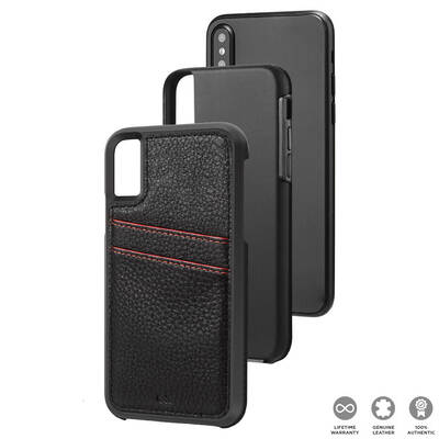 Case Mate Black Tough ID Wallet Case for iPhone X