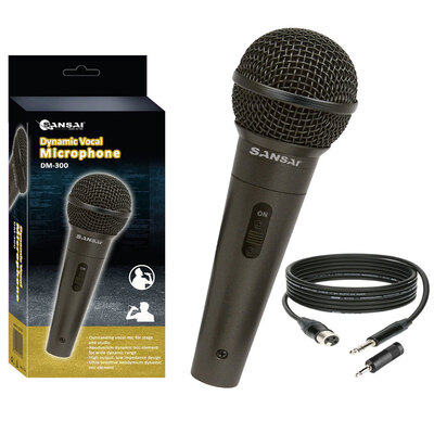 Sansai Dynamic Professional Vocal Microphone - Black