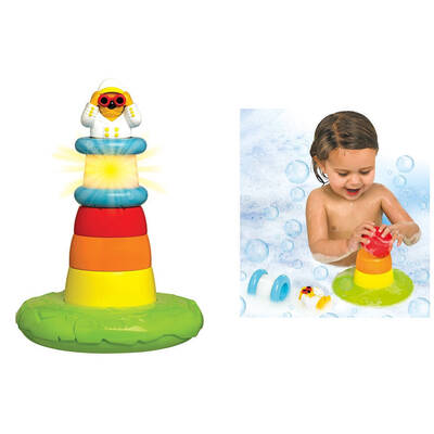Kids Toddler Stack Play Lighthouse Shower Water Toy
