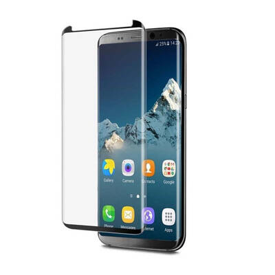 EFM Curved Edge Glass Screen Armour Samsung Galaxy S8 - Black Frame