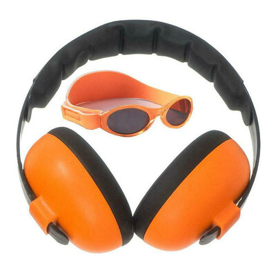Banz Careware Sunglasses/Earmuff Mini Combo - Orange