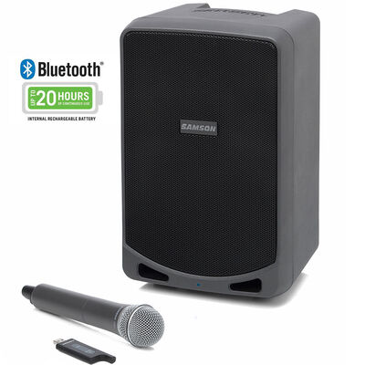 Samson Expedition XP106w PA/Amp Bluetooth 20hrs Wireless Speaker System & Mic