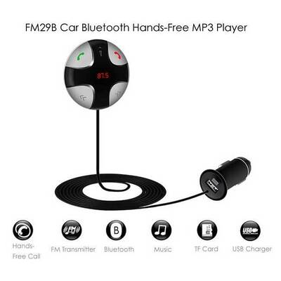 Bluetooth FM Transmitter/Charger/Mic