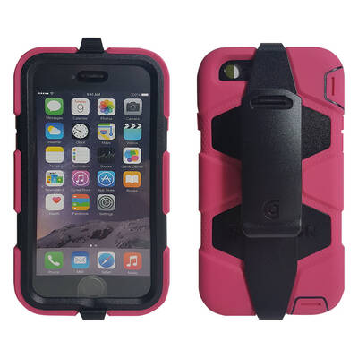 Griffin Pink Survivor All-Terrain Heavy Duty Tough Shock Case For iPhone 6/6S