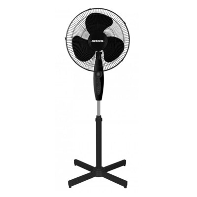 Heller 40cm Pedestal Fan Black w/ Remote