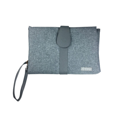 Grey Baby Nappy/Diaper Changing/Change Clutch/Mat/Foldable Handbag/Wallet/Bag