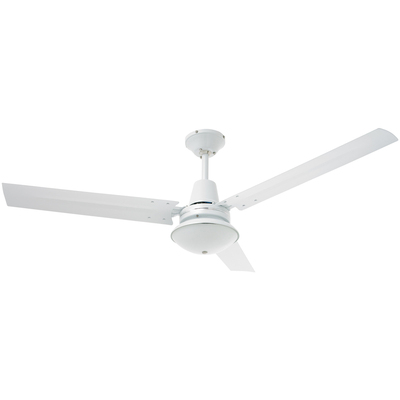 1200Mm 3 Blade Aluminium Ceiling Fan With Oyster Light
