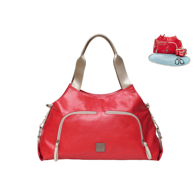 Red Nursery Baby Nappy/Diaper Handbag/Shoulder Bag W/Changing/Pad/Mat/Holder