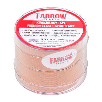 Farrow Sports 2 Rolls Skin Kinesiology Tape