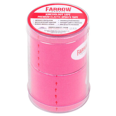 Farrow Sports 2 Rolls Pink Kinesiology Tape