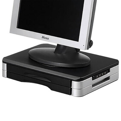 Cumberland Monitor Stand w/ Drawers & USB Port