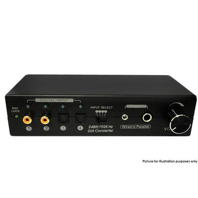 4 In 4 Out Digital Audio To Stereo Converter Headphone Output Digital Loop-Out