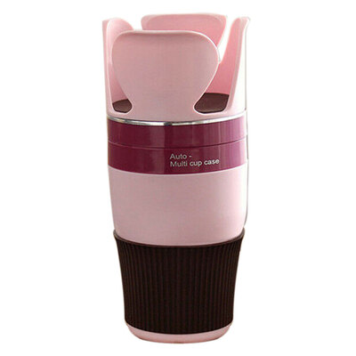 5 in 1 Car Holder Organiser Pink