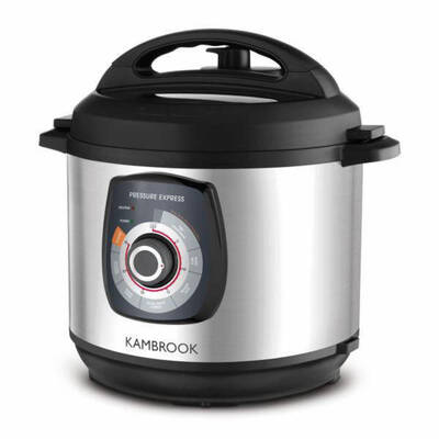 Kambrook KPR620BSS 6L Stainless Steel Pressure Cooker/One Pot Cooking w Lid Lock