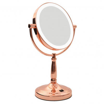 Homedics Vanity Bathroom Mirror Rose Gold