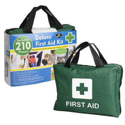 210pc Emergency Medical First Aid Kit