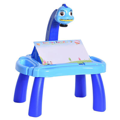 Kids Projector Musical Blue Painting Desk