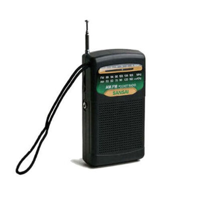 Portable Pocket AM/FM Radio w/  Speaker/3.5mm Jack