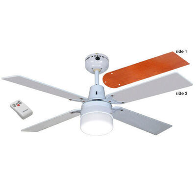 Ruby 1200mm Ceiling Fan 4 White and Wood Cherrywood